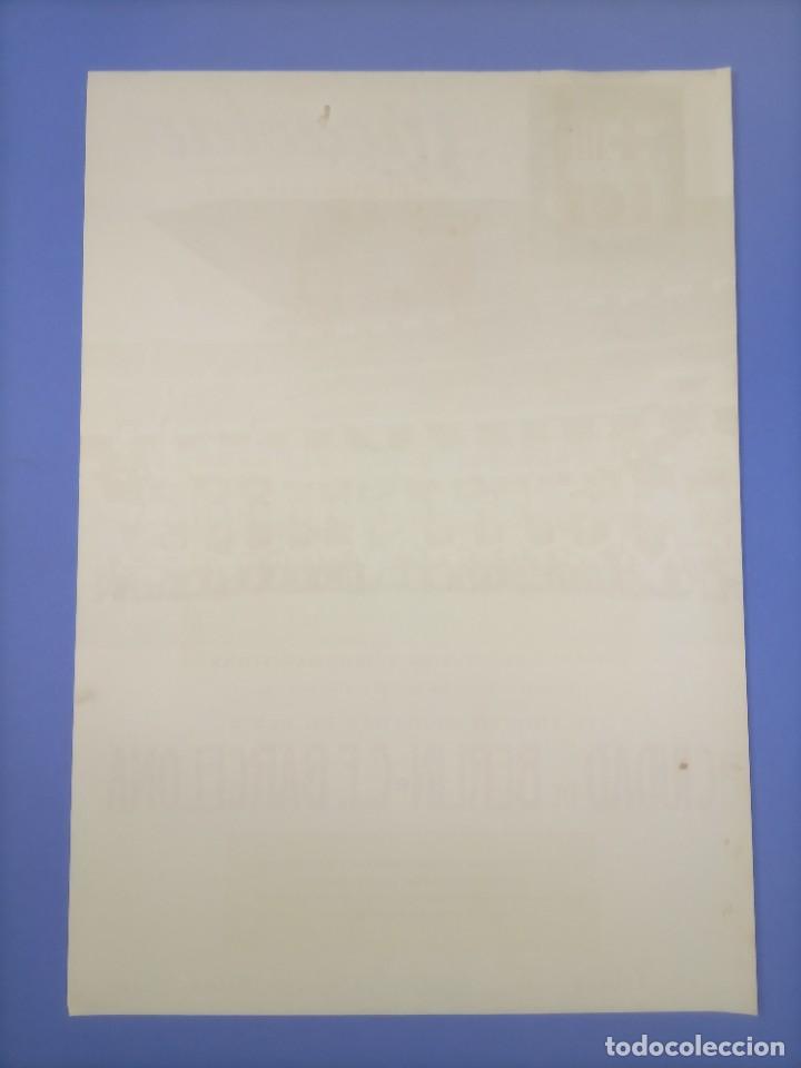 Coleccionismo deportivo: CARTEL - CIUDAD DE BERLIN-C.F. BARCELONA - 1961 - 60,5x42,5cm - IV TROFEO CIUDADES EN FERIA - Foto 7 - 268745539