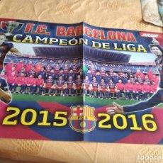 Coleccionismo deportivo: G-79 POSTER F.C. BARCELONA FUTBOL CAMPEON DE LIGA O REAL MADRID CAMPEON COPA EUROPA. Lote 268860089
