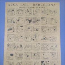 Coleccionismo deportivo: AUCA DEL BARCELONA - CINCUENTA AÑOS DE FÚTBOL - 64'7X44'1. Lote 268862469