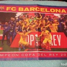 Coleccionismo deportivo: -POSTER DE FUTBOL DEL BARCELONA CAMPEON DE LA COPA DEL REY 20-21. Lote 268996724