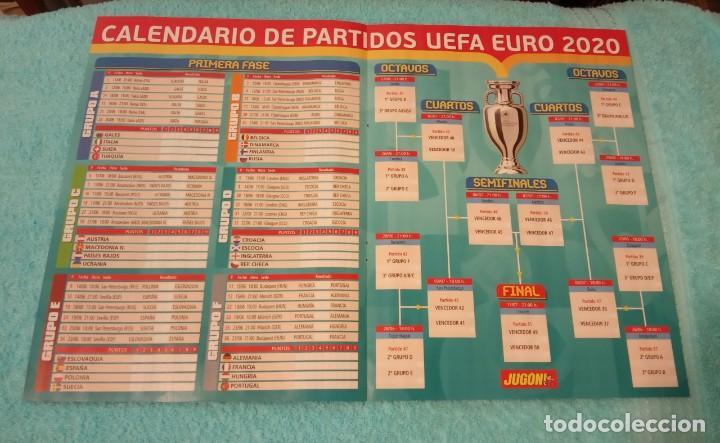 -POSTER DE FUTBOL CALENDARIO PARTIDOS DE LA EUROCOPA 2020 (Coleccionismo Deportivo - Carteles de Fútbol)