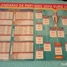 Coleccionismo deportivo: -POSTER DE FUTBOL CALENDARIO PARTIDOS DE LA EUROCOPA 2020. Lote 268996854