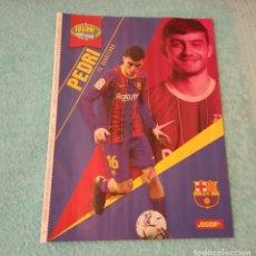 Coleccionismo deportivo: -POSTER DE FUTBOL DEL JUGADOR PEDRI DEL BARCELONA TEMPORADA 20-21. Lote 268997109