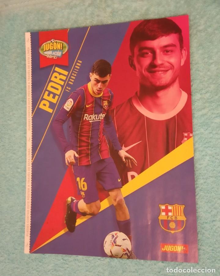 Coleccionismo deportivo: -POSTER DE FUTBOL DEL JUGADOR PEDRI DEL BARCELONA TEMPORADA 20-21 - Foto 2 - 268997109