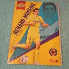 Coleccionismo deportivo: -POSTER DE FUTBOL DEL JUGADOR GERARD MORENO DEL VILLARREAL TEMPORADA 20-21. Lote 268997199