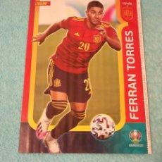 Coleccionismo deportivo: -POSTER DE FUTBOL DEL JUGADOR FERRAN TORRES ( ESPAÑA ) EUROCOPA 2020. Lote 268997244