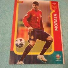 Coleccionismo deportivo: -POSTER DE FUTBOL DEL JUGADOR MORATA ( ESPAÑA ) EUROCOPA 2020. Lote 268997259