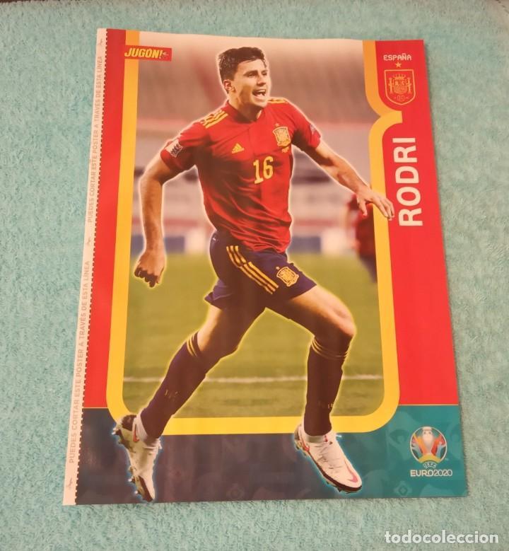 -POSTER DE FUTBOL DEL JUGADOR RODRI ( ESPAÑA ) EUROCOPA 2020 (Coleccionismo Deportivo - Carteles de Fútbol)