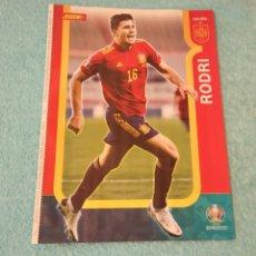 Coleccionismo deportivo: -POSTER DE FUTBOL DEL JUGADOR RODRI ( ESPAÑA ) EUROCOPA 2020. Lote 268997314