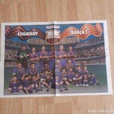 Coleccionismo deportivo: POSTER FC BARCELONA DIARIO SPORT CON NIÑOS. Lote 269216838