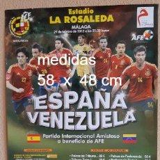 Coleccionismo deportivo: CARTEL ESPAÑA -VENEZUELA. Lote 270215848