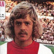 Coleccionismo deportivo: AJAX DE AMSTERDAM: PÓSTER DE JOHNNY REP. 1975. Lote 270245808