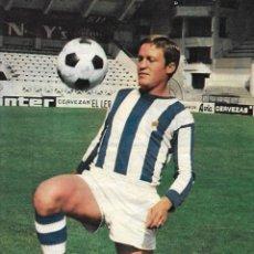 Coleccionismo deportivo: REAL SOCIEDAD: PÓSTER DE OYARZÁBAL. 1975. Lote 270246793