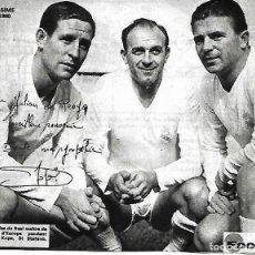 Coleccionismo deportivo: REAL MADRID: RECORTE DE KOPA DI STEFANO Y PUSKAS. Lote 270255568