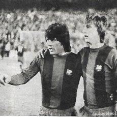 Coleccionismo deportivo: BARÇA: RECORTE DE SOTIL Y CRUYFF. 1974. Lote 270256328