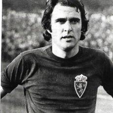 Coleccionismo deportivo: REAL ZARAGOZA: RECORTE DE GARCÍA CASTANY. 1975. Lote 270257323