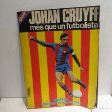 Coleccionismo deportivo: POSTER GIGANTE DE CRUYFF 100X65 CMS AÑOS 70 BUEN ESTADO. Lote 270401328