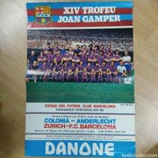 Coleccionismo deportivo: POSTER XIV TROFEU JOSN GAMPER 1979-1980 DANONE (3644/22). Lote 271077363