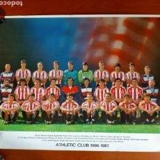 Coleccionismo deportivo: PÓSTER ATHLETIC CLUB TEMPORADA 1986 - 1987. Lote 271967863