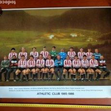 Coleccionismo deportivo: PÓSTER ATHLETIC CLUB TEMPORADA 1985 - 1986. Lote 271967988