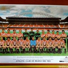 Coleccionismo deportivo: PÓSTER ATHLETIC CLUB TEMPORADA 1982 - 1983 CAJA DE AHORRO MUNICIPAL DE BILBAO. Lote 271969408