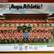 Coleccionismo deportivo: PÓSTER ATHLETIC CLUB DE BILBAO 1982 - 1983 ¡AUPA ATHLETIC! CAJA DE AHORROS VIZCAINA. Lote 271977473