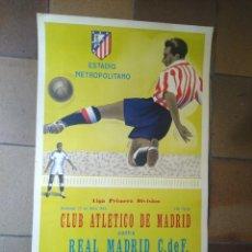 Collectionnisme sportif: CARTEL FUTBOL , ATLETICO MADRID - REAL MADRID 1958 , ESTADIO METROPOLITANO ,ORIGINAL SCHUSS.. Lote 275129498