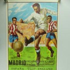 Collectionnisme sportif: ANTIGUO CARTEL DE PARTIDO DE FÚTBOL – COPA MUNDIAL 1982 ESPAÑA - ENGLAND. Lote 275568553