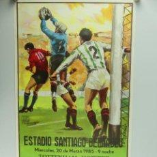 Collectionnisme sportif: ANTIGUO CARTEL DE PARTIDO DE FÚTBOL – TOTTENHAM HOTSPUR - REAL MADRID. Lote 275568803