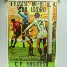 Collectionnisme sportif: ANTIGUO CARTEL DE PARTIDO DE FÚTBOL – 2 DIVISION C.F.ENSIDESA - R.S.D.ALCALA. Lote 275569178