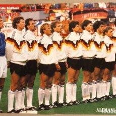 Coleccionismo deportivo: SELECCIÓN DE ALEMANIA FEDERAL DE FÚTBOL. POSTER DEL MUNDIAL DE ITALIA '90.. Lote 276178293
