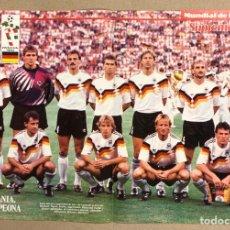 Coleccionismo deportivo: SELECCIÓN DE ALEMANIA DE FÚTBOL. POSTER DEL MUNDIAL DE ITALIA '90. TRICAMPEONA.. Lote 276179533