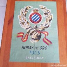 Coleccionismo deportivo: RCD ESPAÑOL BODAS DE ORO 1953.. Lote 276337703
