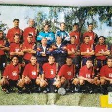 Collectionnisme sportif: POSTER SELECCIÓN ESPAÑOLA LECHE LAUKI 1998 RAUL CAMINERO HIERRO CLEMENTE. Lote 276464313