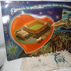 Coleccionismo deportivo: ANTIGUO CARTEL FÚTBOL PRIMERA DIVISIÓN ELCHE GRÁFICAS ROQUE SEPULCRE ORIGINAL NO COPIA. REF.AUTO. Lote 276697768