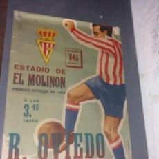 Coleccionismo deportivo: ÚNICO E IRREPETIBLE CARTEL, OVIEDO-REAL GIJÓN (AÑOS 50). Lote 277682783