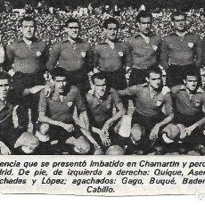 Coleccionismo deportivo: VALENCIA CF: RECORTE DE UN EQUIPO DE LA TEMPORADA 51-52. Lote 279556118
