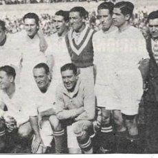 Coleccionismo deportivo: REAL MADRID: RECORTE DEL EQUIPO FINALISTA DE COPA EN 1930. Lote 279556358