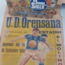 Coleccionismo deportivo: CARTEL ORIGINAL ORENSANA -R GIJÓN (IMPOSIBLE DE ENCONTRAR) 1959. Lote 283228478