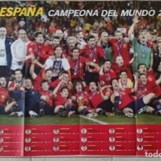 Coleccionismo deportivo: PÓSTER GRAN TAMAÑO DON BALÓN. SELECCIÓN DE ESPAÑA CAMPEÓN DEL MUNDIAL 2010. (NUEVO.SIN USAR). Lote 51881992