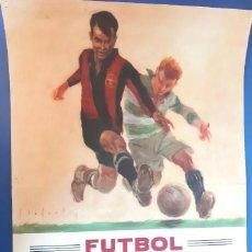 Coleccionismo deportivo: (F-210910)CARTEL HOMENAJE JOSE ESCOLA 12-6-49 F.C.BARCELONA-F.C.OPORTO ILUSTRADO POR SEGRELLES. Lote 287995088