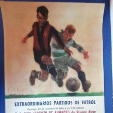 Coleccionismo deportivo: (F-210911)CARTEL 1949-1950 F.C.BARCELONA-C.A.SAN LORENZO DE ALMAGRO Y R.C ILUSTRADO POR SEGRELLES. Lote 287995933