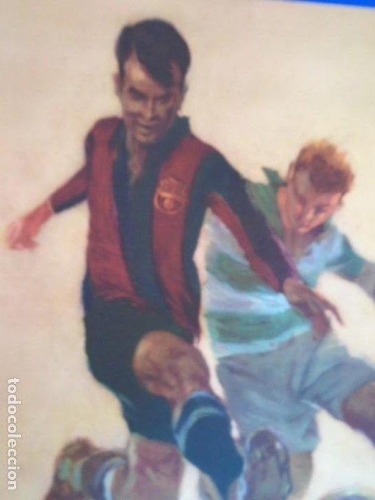 Coleccionismo deportivo: (F-210911)CARTEL 1949-1950 F.C.BARCELONA-C.A.SAN LORENZO DE ALMAGRO Y R.C ILUSTRADO POR SEGRELLES - Foto 4 - 287995933