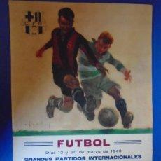 Coleccionismo deportivo: (F-210912)CARTEL 13 Y 20 MARZO 1949 F.C.BARCELONA-ELFSBOR ILUSTRADO POR SEGRELLES. Lote 287997078
