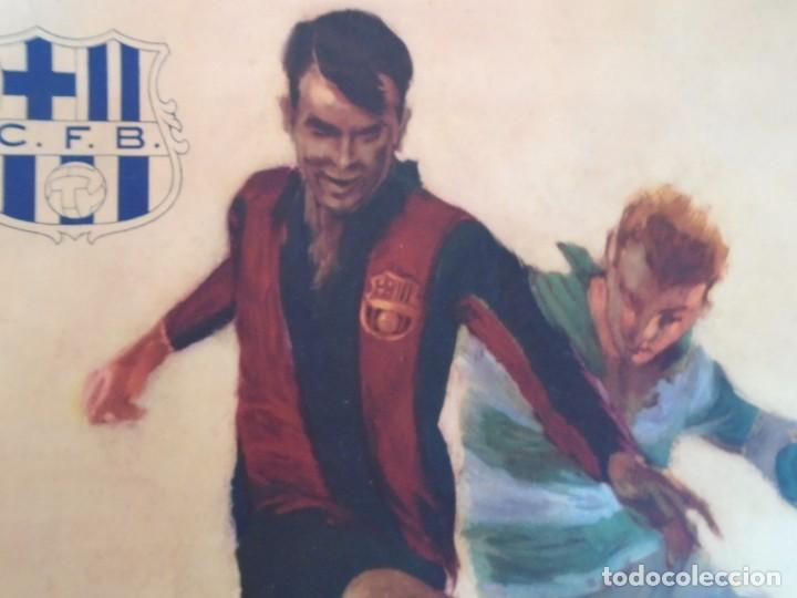 Coleccionismo deportivo: (F-210912)CARTEL 13 y 20 Marzo 1949 F.C.BARCELONA-ELFSBOR ILUSTRADO POR SEGRELLES - Foto 2 - 287997078