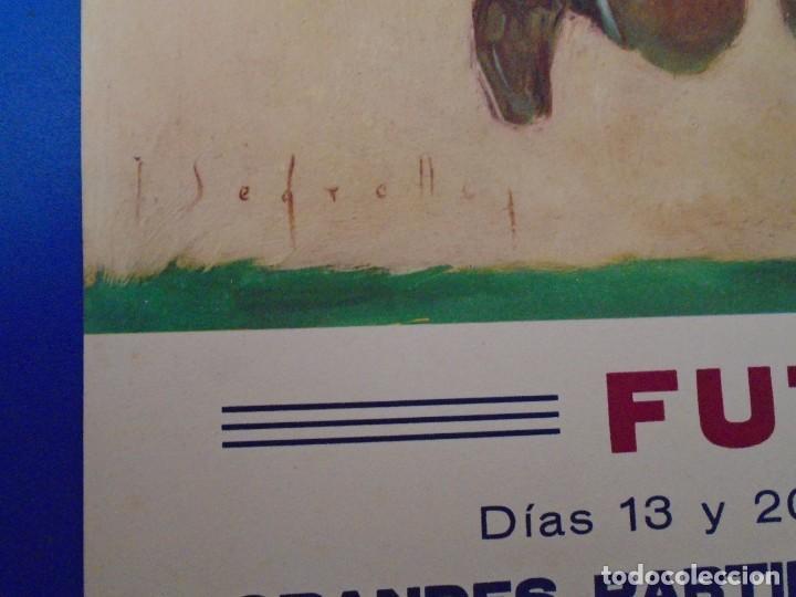 Coleccionismo deportivo: (F-210912)CARTEL 13 y 20 Marzo 1949 F.C.BARCELONA-ELFSBOR ILUSTRADO POR SEGRELLES - Foto 3 - 287997078
