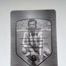 Coleccionismo deportivo: PLACA LUIS ARAGONÉS ATLÉTICO DE MADRID. Lote 288007968