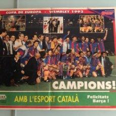 Coleccionismo deportivo: 1992 FC BARCELONA CAMPEÓN COPA EUROPA POSTER. Lote 288346358