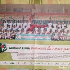 Coleccionismo deportivo: PÓSTER MUSHUC RUNA SPORTING CLUB (ECUADOR). Lote 288950758