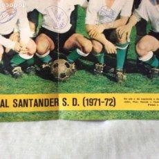 Coleccionismo deportivo: PÓSTER DEL REAL SANTANDER 71-72... FIRMADO POR LOS JUGADORES POR AMBAS CARAS. Lote 289779158